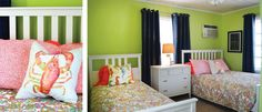 Use color to scream BEACH COTTAGE and to brighten up a room.  This is our Tandem One Cottage at the Sunset Inn & Cottages located in Treasure Island, FL www.sunsetinnti.com