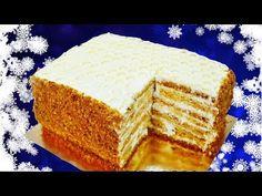 Медовый торт (ленивый «Медовик») с кремом Пломбир | Готовим вкусно и по-домашнему