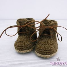 Crochet baby shoes Crochet baby booties 0-3 months Baby boy boots Crochet baby boots Baby boy booties Brown baby shoes Photo prop baby by Yunisiya on Etsy
