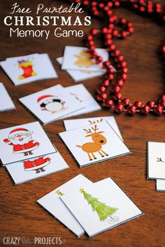 Great way to keep the smaller ones occupied while you get your packing spirit on! Free Printable Christmas Memory Game.