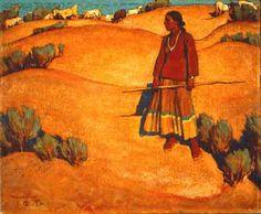 Maynard Dixon 1875-1946 EU. El poder de sus horizontes bajos, las formaciones de nubes, paisajes simplificados, fueron la marca de su obra.