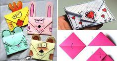 návod na Jednoduchá origami obálka pro dárky od srdce
