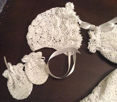 5 crochet patterns of christening gowns at a special discount