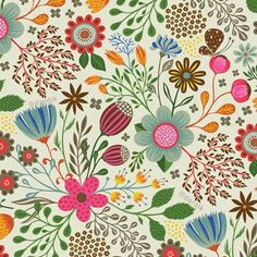 beautiful floral by helen dardik Textile Patterns, Cool Patterns, Flower Patterns, Print Patterns, Pattern Flower, Deco Floral, Motif Floral, Floral Prints, Vintage Floral
