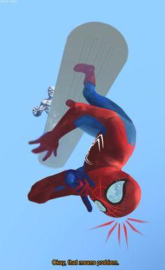 A clandestine ride  #Spiderman #silversurfer #marvel