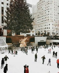 nyc, new york, skating, holiday, christmas New York Christmas, Christmas Time Is Here, Christmas Mood, Merry Little Christmas, Noel Christmas, Christmas Quotes, Christmas Lights, Christmas Decor, Winter Wonderland