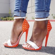 high heels – High Heels Daily Heels, stilettos and women's Shoes Ankle Strap Heels, Strappy Heels, Stilettos, Pumps, Talons Oranges, Cute Shoes, Me Too Shoes, Zapatos Shoes, Hot Heels