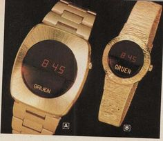 vintage gruen watches from the 70s - I want the ladies one (actually similar to one I already have).
