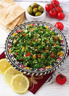 LEBANESE FOOD! Tabbouleh, prepare it with Al Wadi Al Akhdar extra virgin olive oil www.alwadi.com