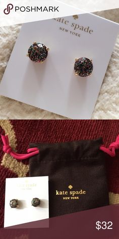 Kate Spade Gumdrop Glitter Studs Brand new. Comes with cute little bag. Pretty sparkly studs. kate spade Jewelry Earrings