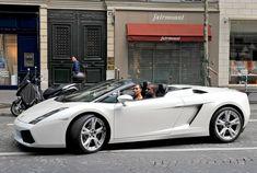 Kim Kardashian and Kanye West in Beautiful White Lamborghini