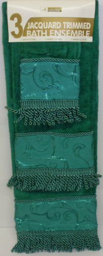 $9.99 3 PIECE GREEN EMBOSSED FLORAL BATH TOWEL, HAND & WASH CLOTH SET TOWELS  From Better Home   Get it here: http://astore.amazon.com/ffiilliipp-20/detail/B006M768J2/189-6118951-1718700