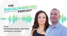 In this episode, Rachel and Jon sit down with host Jenna Snavely to discuss their passion for helping small businesses and how the DigitalMarketer Certified Partner program allowed them to take their side-hustle to a full-time business. IN THIS EPISODE YOU'LL LEARN: ▪️ How to monetize your brilliant ideas ▪️Simple ways to offer value in advance for free ▪️Tips for working smarter, not harder ▪️How to run a business together and stay happily married