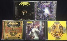 Anthrax CD/CDs Lot of 5 Spreading the Disease + Among the Living + Greater of