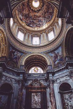 architecture - Around the world. Architecture Baroque, Beautiful Architecture, Beautiful Buildings, Architecture Design, Beautiful Places, Greece Architecture, Cathedral Architecture, Architecture Today, Renaissance Architecture
