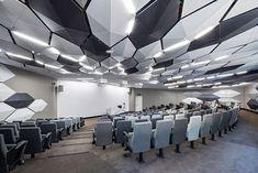 Contemporary small lecture hall / auditorium design concept.