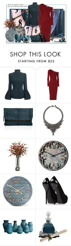 """""""Today... Go to heaven for the climate and hell for the company (Mark Twain)"""" by carineazevedo ❤ liked on Polyvore featuring HUGO, Alexander McQueen, Donna Karan, Zagliani, Fallon, Nearly Natural, Universal Lighting and Decor, WALL, Giuseppe Zanotti and Agraria"""