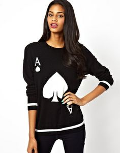 Image 1 of River Island Ace Of Spades Sweater- ASOS