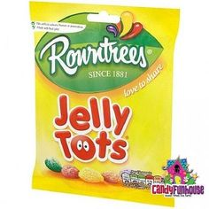 Jelly Tots - Jelly Tots 160G - Retro Candy Chocolate Hobnobs, Chocolate Toffee, Chocolate Sweets, British Chocolate, Terry's Chocolate Orange, Mcvities Digestive, British Candy, Jelly Tots, Bubble Yum
