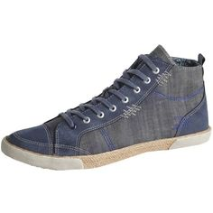 Sneakers im Materialmix ab 25,00 € Hier kaufen:  http://www.stylefru.it/s230370 #jeanslook #bast #used