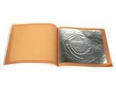 Edible SILVER Leaf - Book of 5 sheets