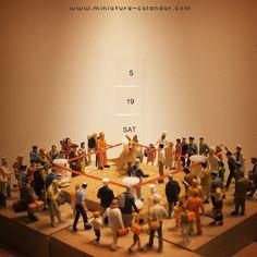 miniature calendar  -Boxing-