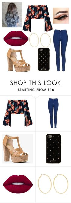 """""""Untitled #237"""" by blancaxrodriguez on Polyvore featuring Topshop, MICHAEL Michael Kors, Kate Spade, Lime Crime and Kenneth Jay Lane"""