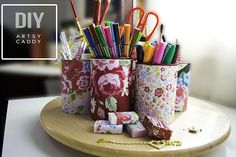 49 DIY Tin Can Crafts! Perfect to do for office supplies or just holders around the house. Great craft to do yourself or with the kids. –– CreatingReallyAwesomeFreeThings.com
