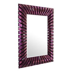 Add #ultraviolet accessories to your home, like this #mirror from #eichholtz. Available from uber-interiors.com