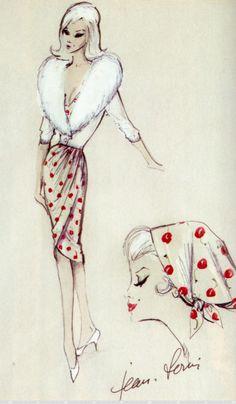 Jean Louis costume design sketch for Marilyn Monroe in The Misfits (1961)