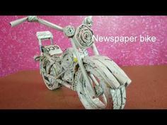 News paper bike | paper craft | best out of waste - YouTube