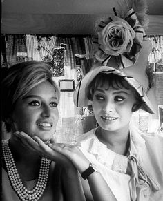 Sophia Loren and her only sister Maria, who once considered a singing career. Instead, she will marry one of Mussolini's sons, photo by Alfred Eisenstaedt, 1961