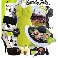 Kentucky Derby Lovely in Lime, created by cslegnon919 on Polyvore