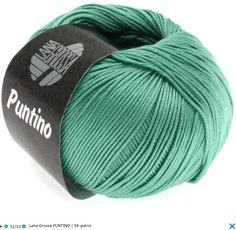 Lana Grossa Puntino Lana Grossa Puntino classic cotton yarn, combed, gassed and mercerized, 100 % cotton, RL= approx 175yd/160m/50g/1 ball, knitting needle size 3 - 3,5