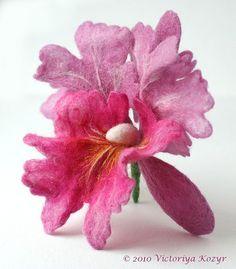 """Купить Брошь """"Орхидея Катлея"""" - орхидея, розовый цветок, розовый, брошь орхидея, брошь цветок"""
