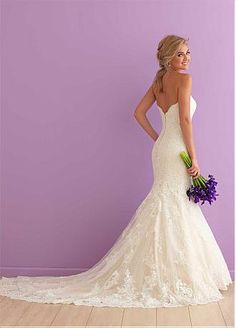 Buy discount Charming Tulle Sweetheart Neckline Mermaid Wedding Dresses with Lace Appliques at Dressilyme.com