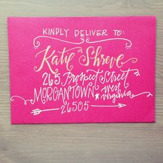 Custom Calligraphy Handmade Envelope by ThePrettyPaperieShop, $2.50