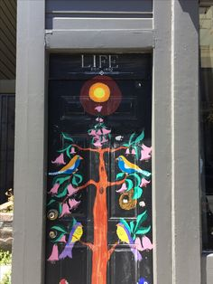 Life - painted door, San Francisco