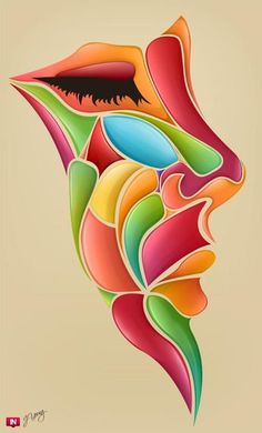 Bright and colorful digital art by Jeremy Young – art Natur Tattoo Arm, Young Art, Young Young, Art Africain, Arte Pop, Face Art, Art Faces, Oeuvre D'art, African Art