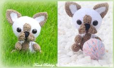 Little french bulldog Crochet Ideas, French Bulldog, Teddy Bear, Toys, Animals, Amigurumi, Activity Toys, Animales, Bulldog Frances