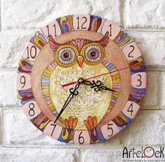 The pink owl Wall Clock, Home Decor for Children Baby Kid Boy Girl. $40.00, via Etsy.   by ArtClock