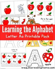 Learning the Alphabet Letters A-Z Printable Packs  - This Reading Mama