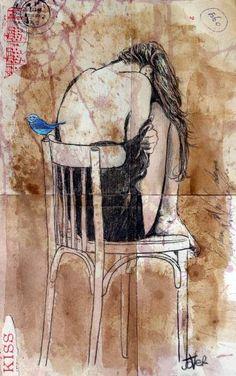 """Saatchi Art Artist Loui Jover; Drawing, """"a little hope"""" #art"""