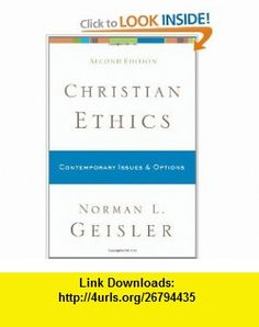 CHRISTIAN ETHICS NORMAN GEISLER PDF DOWNLOAD