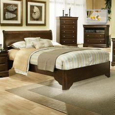 Alpine Furniture Chesapeake Sleigh Bed - 3200Q
