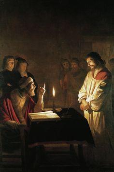 """""""Cristo ante el sumo sacerdote"""" (1617)- Gerard van Honthorst (Barroco) (Holanda) (1592-1656)."""