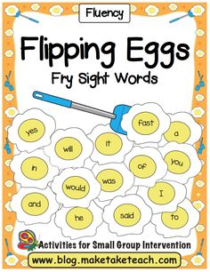 Learning and practicing sight words can be super fun when you integrate hands-on activities. The Flipping Eggs activity is easy to assemble- simply print the eggs, laminate and then cut out each egg. You'll have an activity that will last for years! Just for fun, the Flipping Eggs activity is also available with green colored …