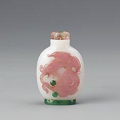Chinese Peking Glass Snuff Bottle,18th Century