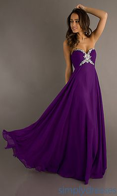 Long, purple gown