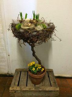 Tree Branch Decor, Diy Greenhouse, Miniature Fairy Gardens, Ikebana, Flower Decorations, Plant Hanger, Floral Arrangements, Easter, Christmas